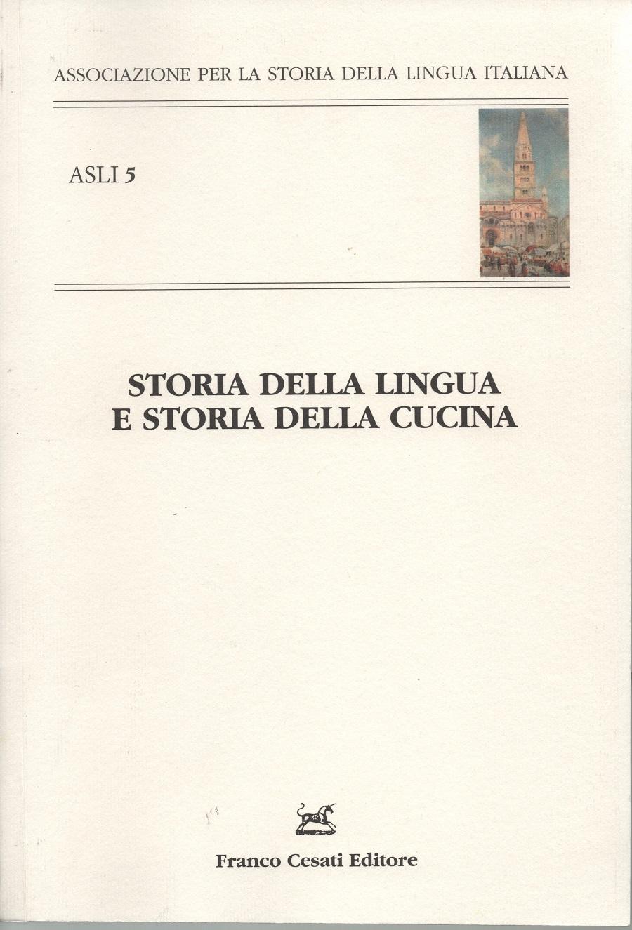 Storia della lingua e storia della cucina ‹ Comunità ...