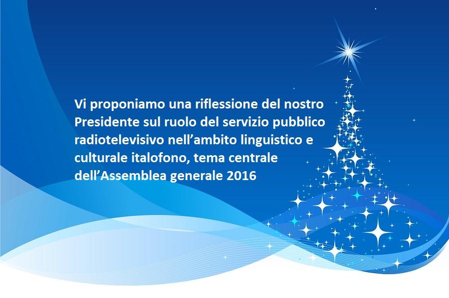 Buon Natale Tutti.La Comunita Radiotelevisiva Italofona Augura A Tutti E Tutte