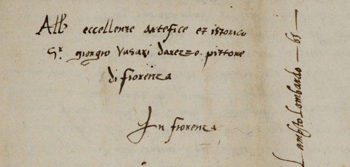 Lettera Vasari