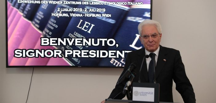 Il presidente Mattarella inaugura il Centro viennese del LEI, Lessico Etimologico Italiano