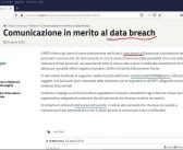 "Crusca Gruppo Incipit,""Data breach"": un anglicismo inopportuno e incomprensibile"