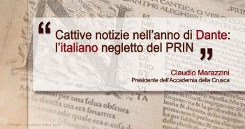 Il Presidente dell'Accademia della Crusca Claudio Marazzini scrive al Ministro dell'Università Gaetano Manfredi